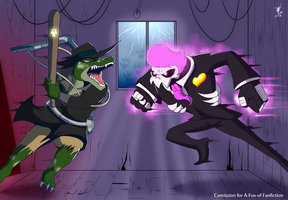 Gator vs. Ghost by A-Fox-Of-Fiction