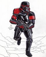#Inktober pen sketch - Inferno Squad Stormtrooper by Robert-Shane