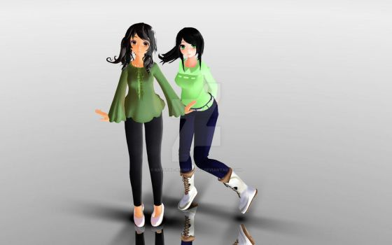 Zianna And Sylvana Model DL! by Krystal-Animations