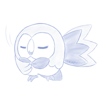Rowlet by Seraphinae