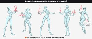Poses Reference #46 (female + male) by Anastasia-berry