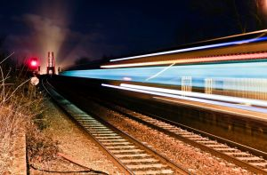 Dalmeny Railway Station with whooshing ChooChoo by BusterBrownBB