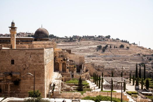 Al-Aqsa and Mount of Olives by Lad2-0