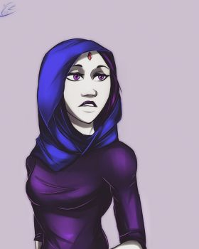 Request: Raven in hijab by MegS-ILS