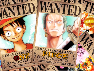 WANTED - One Piece Wallpaper by Cyril-L-Valentine