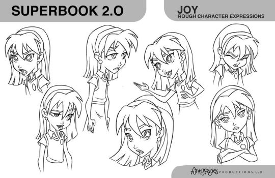 Clean-Up Modelsheet SuperBook2(Joy expressions) by dagracey