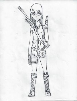 Sketch of Unnamed Character by Leapoffaith4