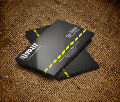 Black Business Card by Mottcalem