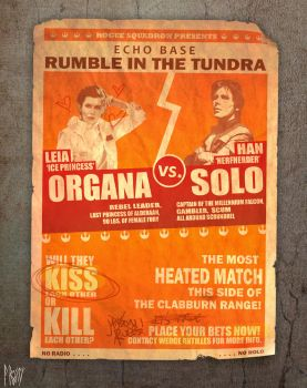 ORGANA vs SOLO Fight Poster by ThatNorskChick