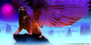Celestial Griffin by Tom Kelly by TomKellyART