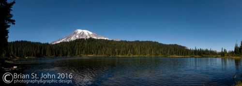 Mt Rainier and Reflection Lake 001 by drksnt