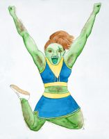 Ogre Cheerleader by lunavalse