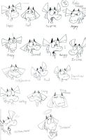 Allu Facial Expressions Sheet by dawny