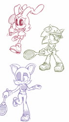 Tennis Suit Sketch #1 by Zack113