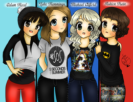 5 Seconds Of Summer As Girls by AngelNightmare1441