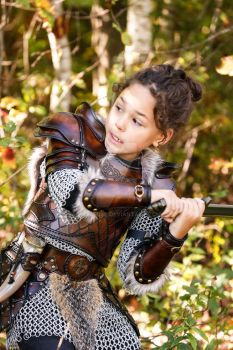 leather armor children viking celtic by Lagueuse