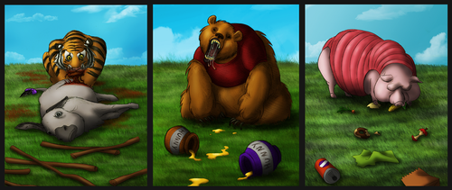 Freaky Pooh Series by SonicRocksMySocks