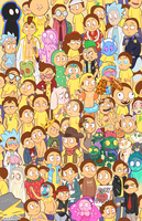 Rick and Morty - So Many Mortys by pk4n