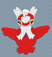 Lyra the Latias 'Plushie' (For dragonbuster2) by Unownace