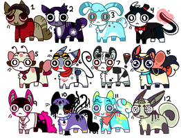 Adoptables (CLOSED) by TASS3L