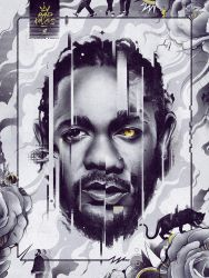 Kendrick Lamar (Black Panther) by ChrisBMurray
