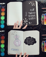 Wreck This Journal: Page 115, 116 by MichaelaKindlova