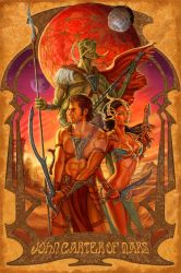 John Carter Poster by ScaleyScribe