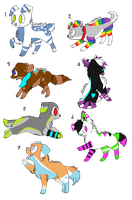 5 Pt Adoptables by DeerNTheHeadlights