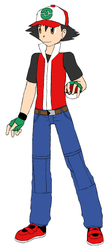 Ash Ketchum in Digimon XYZ by NeoduelGX