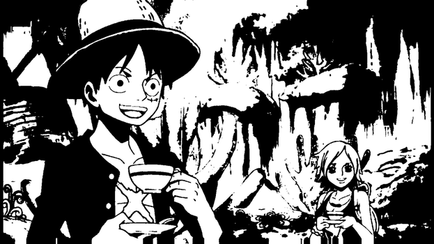 Luffy - Drinking Tea by 2Handed