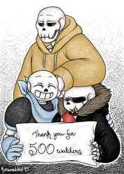Thank you for 500 watchers! by Kitsunewolf95
