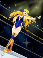 Luvia Enters the Ring ink by chou-roninx