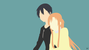 Kirito/Asuna {Sword Art Online} by greenmapple17