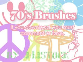 70's Brushes by j4jstock