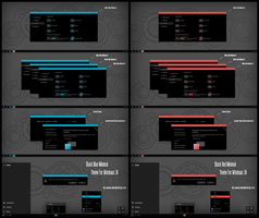 Black Blue and Red Minimal ThemeWin10 Fall Creator by Cleodesktop