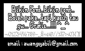free font by a-wanq
