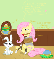 Fluttershy's Cute Little... Angel... by DarkKnightHoof