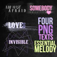 four PNG texts. by essentialmelody