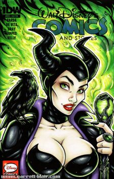 Maleficent bust cover by gb2k