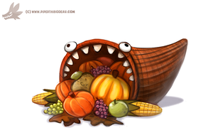 Daily Paint #1099. Cornucopia by Cryptid-Creations