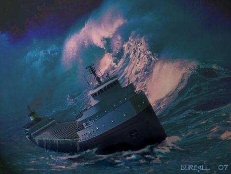 The Edmund Fitzgerald by dureall