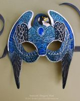 Knotwork Peregrine Falcon - Leather Mask by windfalcon