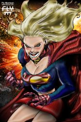 Manga Super Girl - COLOR by henflay