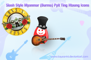 Slash Style Burma Toy Icons by tayzar44