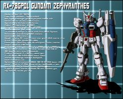 RX-78GP01 Gundam Zephyranthes profile by zeiram0034