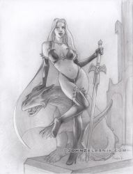 Lady Death pencil drawing by Zeleznik