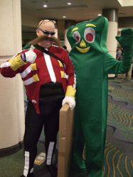 Meeting Gumby... okay... by linkinspirit95