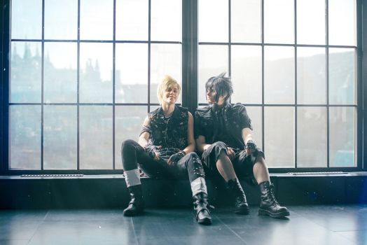 Noctis and Prompto by pollypwnz