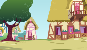 Ponyville: Pinkie Timer Scene Vector by circuitsense