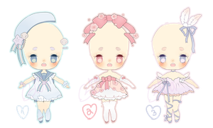 magical outfit adopts | closed by Hacuubii